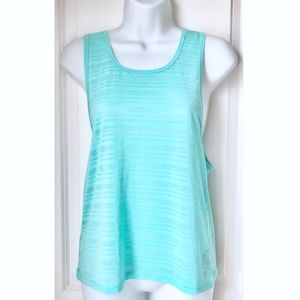Forever 21 Mint Green Striped Sleeveless Tank Top